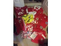 Bundle of Bristol City FC Shirts and DVDs