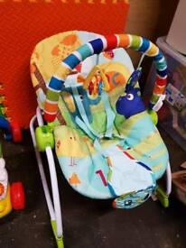 BrightStarts Infant-Toddler Vibrating Bouncer Chair