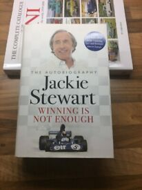 WINNING IS NOT ENOUGH - QUALITY HARDBACK MOTOR RACING BIOGRAPHY - BY JACKIE STEWART - £5 BARGAIN BUY
