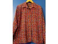 Mary west multi coloured print blouse .Medium sized