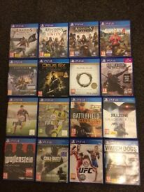 Bargain! PS4 games x 16! £60 Great Value!