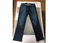 Draggin motorbike female jeans slimt fit with protections kevlar and impact protections
