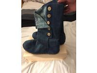 Genuine Summer blue denim ugg boots size 8.5.