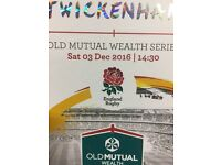 4 ENG v AUS rugby tickets M40