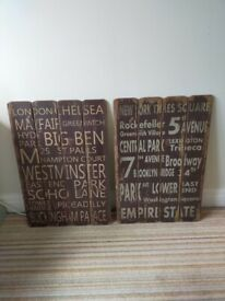 Distressed Wooden Wall Plaques £15 each