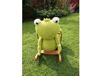 Frog baby rocker