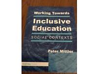 Working towards inclusive education, social contexts