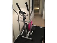 Cross trainer and equipment mat