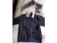 Fiori black denim jacket