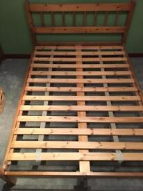 Double bed - solid wood