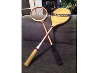 Vintage squash racquets