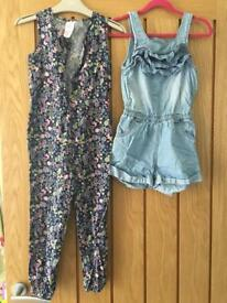 2x play suits Next and Peacocks size 6 years.