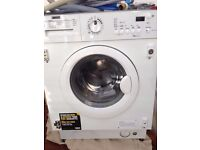 Zanussi Integrated Washing Machine ZWI 71201 WA, 7kg, 1200 RPM, used only few times,