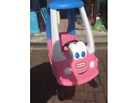 LITTLE TIKES PRINCESS COZY COUPE CAR - BARELY USED!! AS NEW, DAUGHTER OUTGROWN!