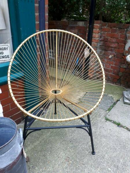 Used, Egg chair gold for sale  Leiston, Suffolk