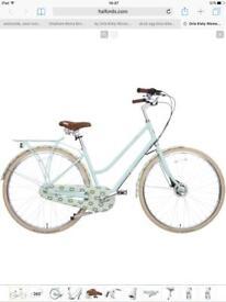 "Olive and Orange by Orla Kiely Women's Classic Bike - Full Cover Duck Egg Tall Flower 17"""