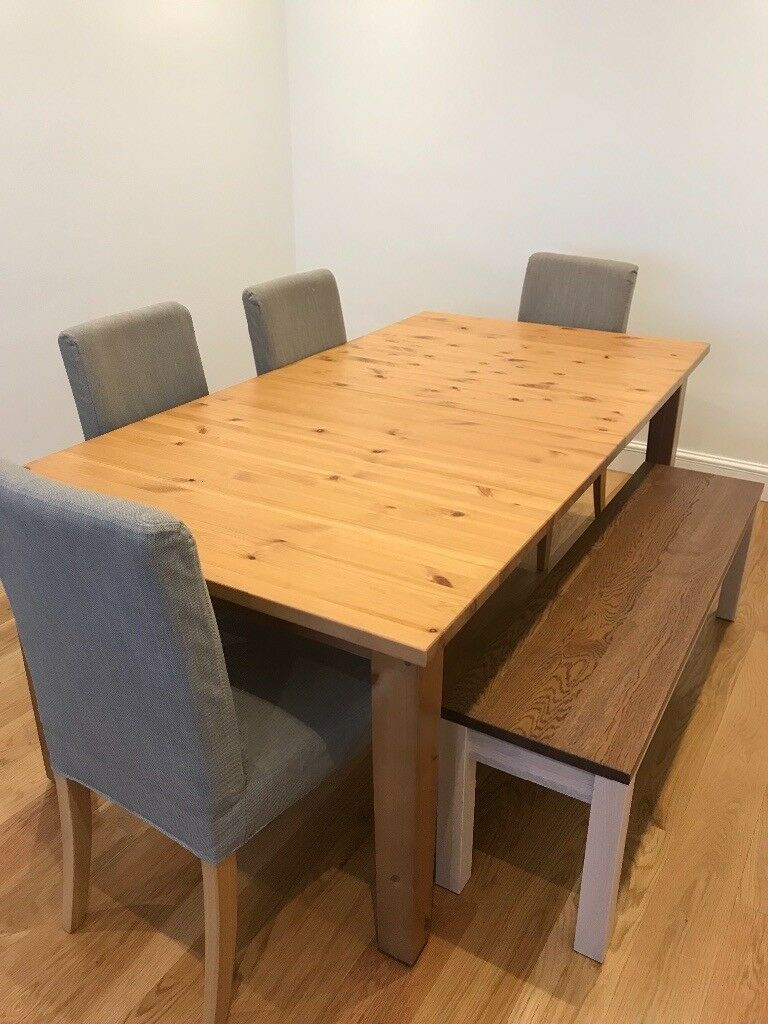 Extendable Dining Table Ikea Stornas With Seating In Chelsea London Gumtree