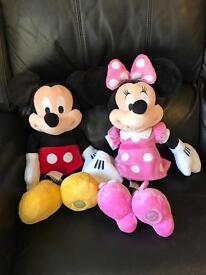Large Micky and Minnie Mouse