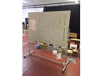 Double- Sided Whiteboard on Wheels