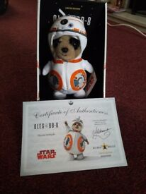 Meerkat star wars toy oleg as BB-8