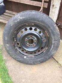 5 stud steel wheel & tyre