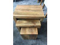 Solid oak tables x2 Sets
