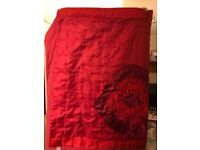 Beautiful red throw for bed