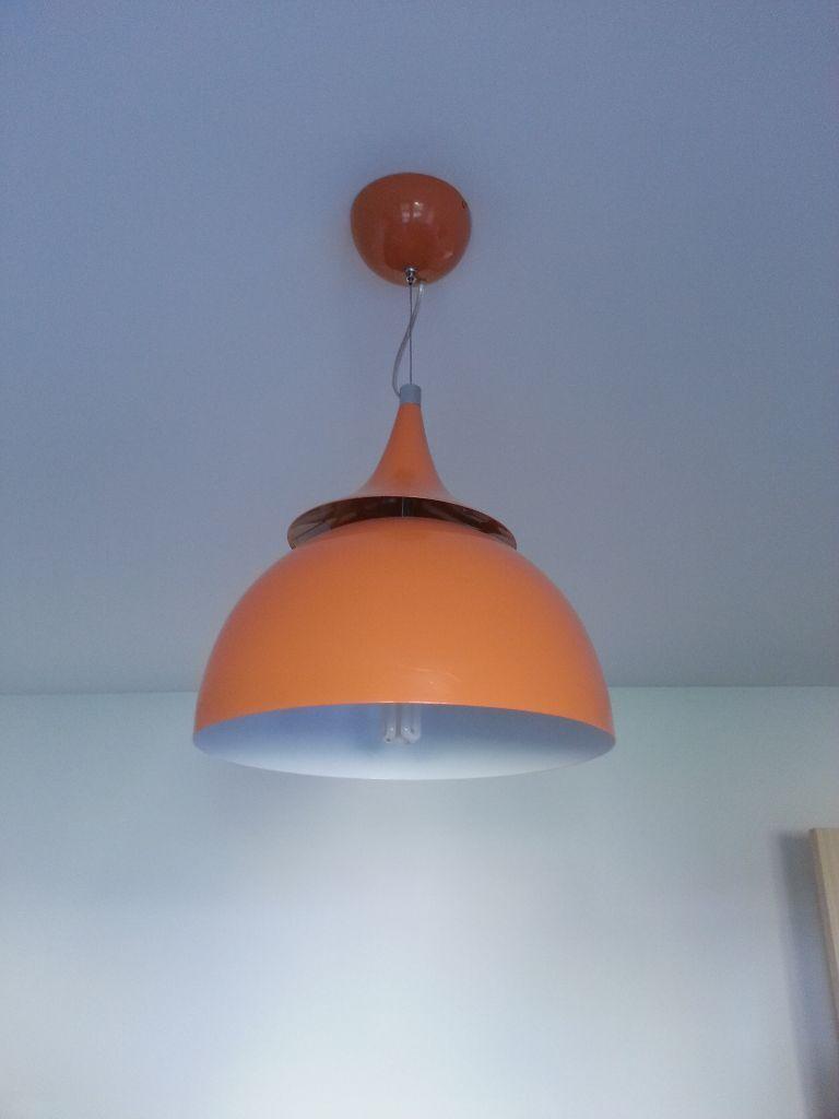 Led Ceiling Lights Gumtree : Ex bhs retro orange metal ceiling light in aberdeen