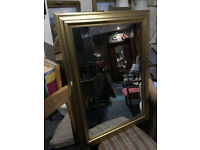 Attractive Large Antique Style Wooden Gilt Framed Mirror