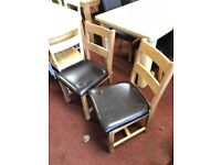 2 solid oak wood dining chairs - x display