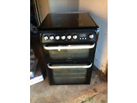 Hotpoint HUD61 freestanding dual fuel cooker