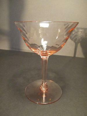 Morgantown Palm Optic Pink Champagne/Sherbet Goblet(s)
