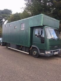 Ford Iveco Ex-Horse box, live in camper, sleeps 5, wood burner, Low mileage