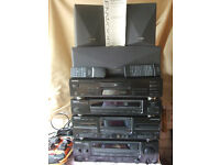 Stereo Audio Systems Kenwood Hi Fi Seperates - Tape Deck Graphic Equilizer CD Speakers