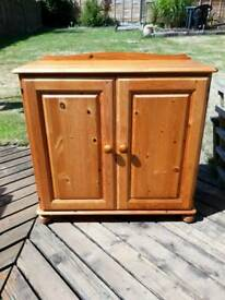 Antique pine cupboard unit