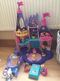 Fisher price little people princess castle & carriage