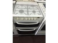 White Cannon 55cm gas cooker grill & double oven good looking with guarantee