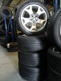 """set of newly refurbished genuine 19"""" bmw tigerclaws new tyres all round £350mint cond"""
