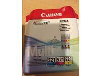 Canon Genuine Ink PIXMA CLI 521 C/M/Y Multipack