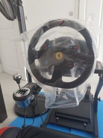 Gt omega racing seat/ wheel/pedals/gearbox