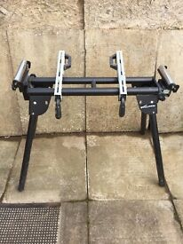 Evolution Chopsaw woodworking bench plus many other items in workshop
