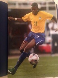 Brazilian legend Robinho signed 16x12 photo