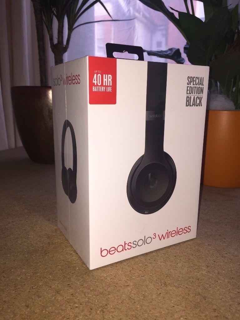 Beats Solo 3 Wireless Headphones, SPECIAL EDITION Matte Black