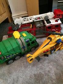 Various vehicles and remote control digger
