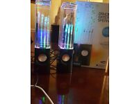Multi-coloured LED M-Tech Dancing Water Speakers (BRAND NEW- Perfect Condition)