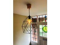 Ikea Pendant Light & 2 large bulbs