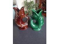 2 Gurgle Glug jugs,from Cornwall and Devon