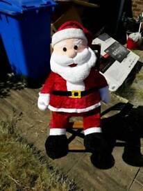 Cuddly santa