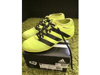 Men's/Boys Adidas Ace 16.3 Primemesh Indoor Football Sock Trainers Solar Yellow Size 7 - rrp £64.99
