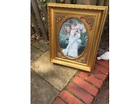 Shabby chic style gold gilt vintage frame project